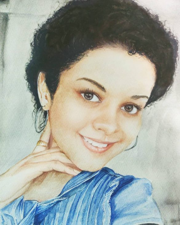 Watercolor Painting Portrait